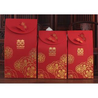 婚慶用品創意喜糖盒子批發中式婚禮糖果禮盒紙盒結婚回禮喜糖袋子