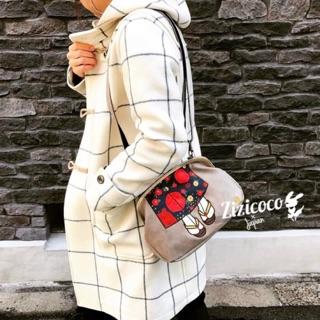 日本預購 mis zapatos 3way美腿包  皮革美腿包 珠扣包