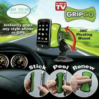TV熱銷GRIPGO 360°車用手機支架