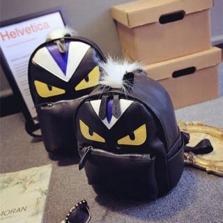 熱門 克拉戀人明星同款包包 時尚大牌小怪獸小惡魔雙肩包眼睛男女背包
