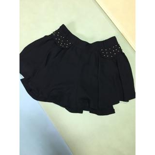 黑色褲裙 雪紡褲裙