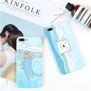 可愛北極熊/海獺 iphone手機殼