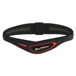 【日本進口】Phiten RAKUWA Cross type液化鈦運動手環 黑紅色 15cm