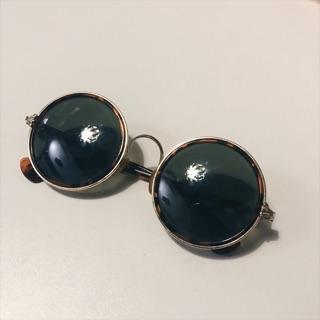 圓框眼鏡 墨鏡 太陽眼鏡 琥珀 玳瑁 鏡腳