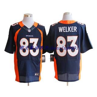 現貨實拍歐美爆款時尚運動風NFL橄欖球球衣 丹佛野馬 Denver Broncos 83%23 WELKER 精英版 刺繡