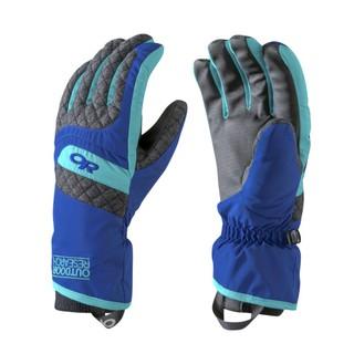 【【蘋果戶外】】Outdoor Research OR243349 0589 水藍/藍 女 防水保暖手套 極光 滑雪手套