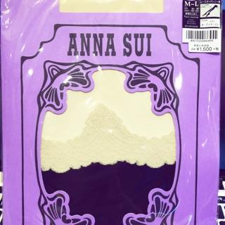 Anna sui蕾絲風雙色造型絲襪(仿膝上襪設計)