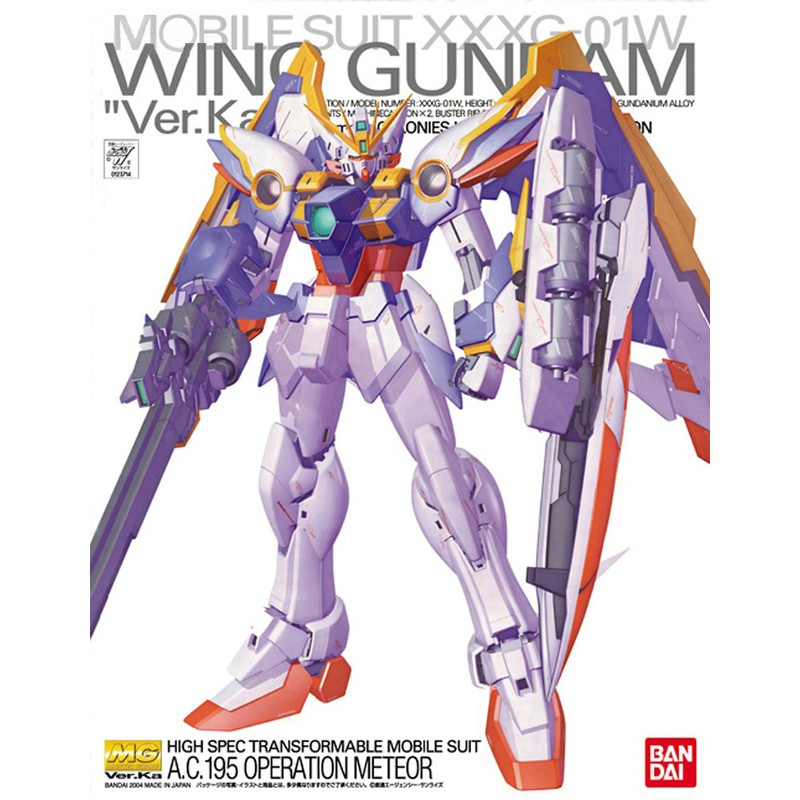 【魂商】BANDAI 鋼彈W MG 1/100 XXXG-01W WING GUNDAM Ver.Ka 飛翼鋼彈Ka版