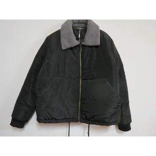 寬鬆珍珠毛領鋪棉短外套夾克飛行外套大尺碼