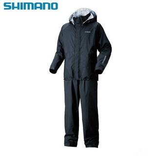 SHIMANO RA-027M 雨衣釣魚套裝 黑色 XL(LL) 一個尺寸