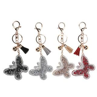 新款蝴蝶皮革带钻钥匙扣 手机 包包钥匙扣