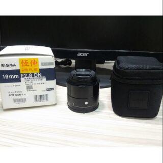 SIGMA 19mm f2.8 EX Art版 DN 黑色 e-mount for sony
