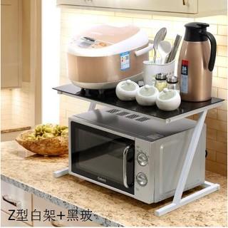 廚房微波爐架烤箱架置物架電鍋架調料架調味架收納儲物多功能架