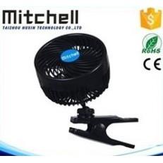 車之嚴選 cars_go 汽車用品【PD-3132】mitchell 6吋夾式車用散熱渦流循環電風扇 12V點煙器插電式