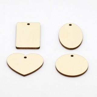 客製化/小木片/木板/木牌/美勞素材/diy/烙畫/黏土/鎖匙圈/鑰匙圈/3D印表機雷射素材/吊飾(可定製)