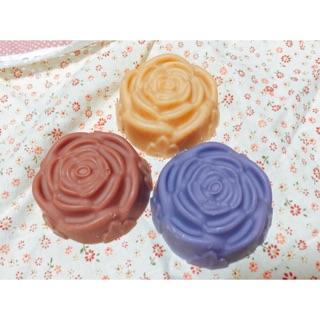玫瑰手工沐浴皂婚禮小物 紅麴 粉紅礦泥