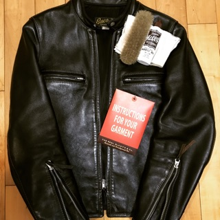The real mccoy's BUCO J-100 馬皮茶芯 horsehide 外套/ 36號