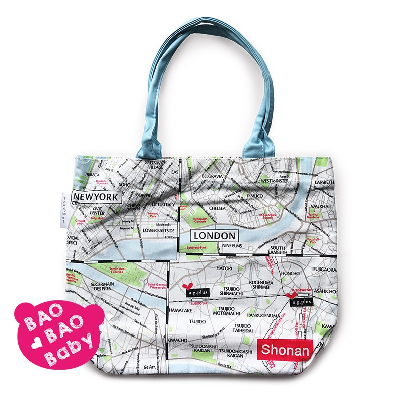 寶貝日雜包🍓日本a.g.plus時尚都會地下鐵地圖包 托特包 單肩包 側背包 側肩包 肩背包 帆布包