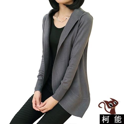 毛衣外套【7619】韓版 秋冬翻領針織外套 修身外套 長版 罩衫 長外套 風衣 西裝外套 薄外套 大衣