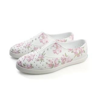 native JERICHO PRINT 洞洞鞋 白色 花卉 女鞋 no693 - 白色