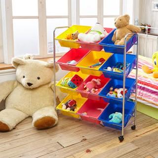 [ikloo]可移式12格玩具收納組