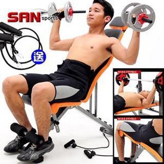 【SAN SPORTS】變態金剛健腹機 C173-5210 (仰臥起坐板仰臥板.啞鈴椅健腹器舉重床.運動器材