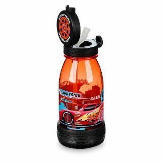 美國迪士尼 閃電麥坤Cars造型吸管水壺