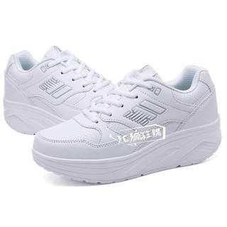 搖搖鞋Enly/恩立新款秋季女鞋搖搖鞋女運動鞋厚底韓版系帶鞋跑步鞋