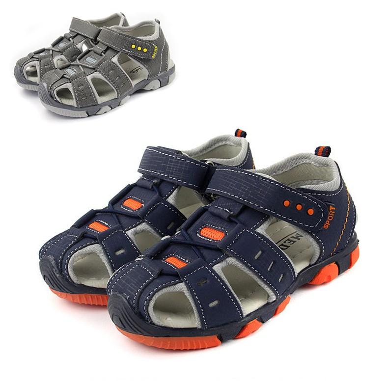 男童 運動涼鞋 透氣膠底魔鬼氈黏貼涼鞋 橘魔法 Baby magic 現貨 童鞋 童裝 兒童