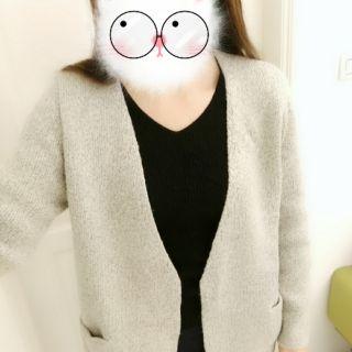厚針織修身外套