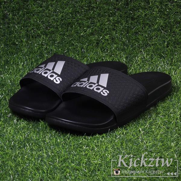 愛迪達 adidas Adilette CF+ 男鞋 黑銀 輕量 軟底 緩震 休閒 運動 拖鞋 S79352