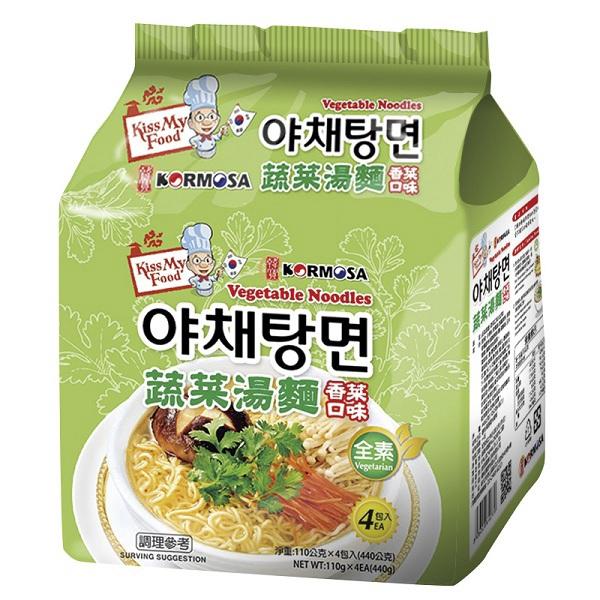 KORMOSA 蔬菜湯麵-香菜口味(110g*4包/袋)[大買家]