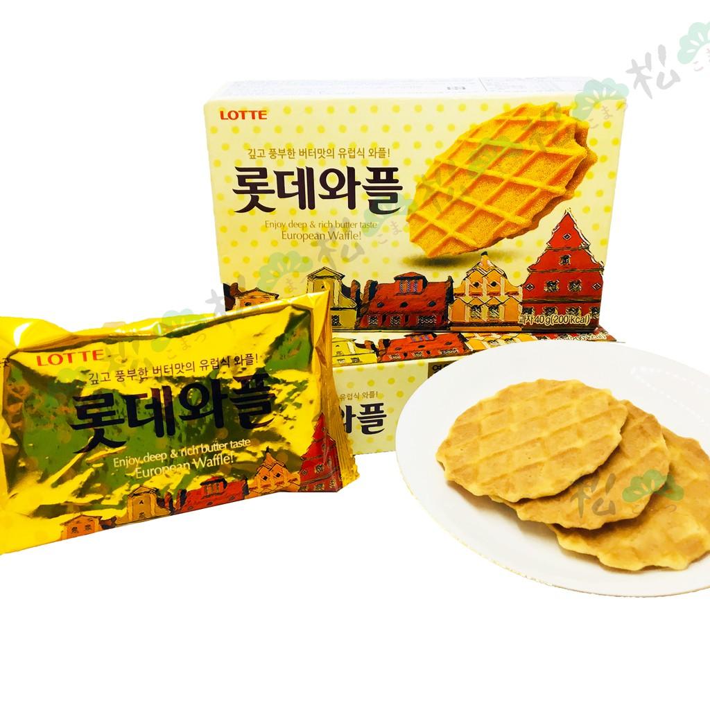 ✨現貨✨韓國 樂天 歐風奶油風味華夫脆餅 40g
