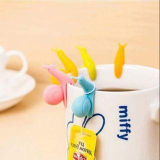 韓國可愛蝸牛茶包掛夾/10個
