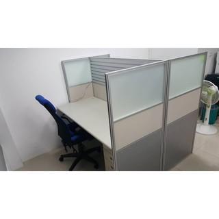 OA辦公桌椅組/辦公桌+屏風+活動櫃(有鎖)+椅子