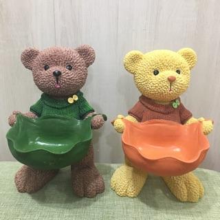熊熊多肉盆/鑰匙盤