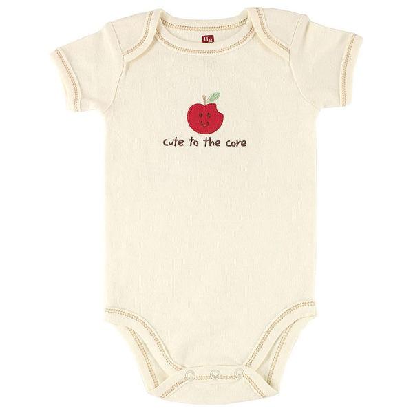 Luvable Friends 有機棉短袖包屁衣 - 紅色小蘋果 68279