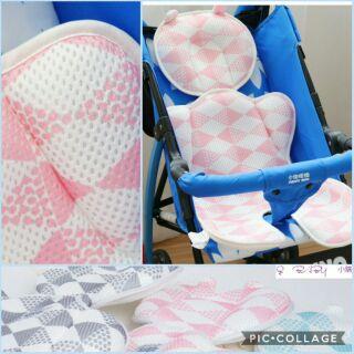 ~Q baby 小舖~  正品YODO XIUI 嬰兒推車厚款涼席3D 透氣三明治嬰童席熊