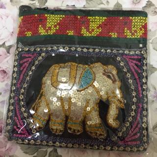 「泰國大象包」泰國帶回 亮片 大象 側背包