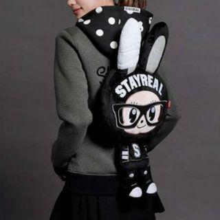 【二手賣Stayreal】正版STAYREAL黑色可愛小兔後背包