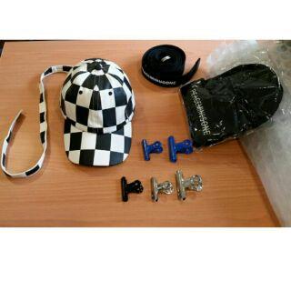PEACEMINUSONE風格 特殊款訂製黑白長尾帽
