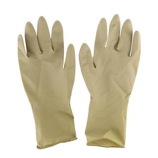 1雙棕色天然橡膠美髮加厚燙髮染髮洗頭防滑反復使用專業手套