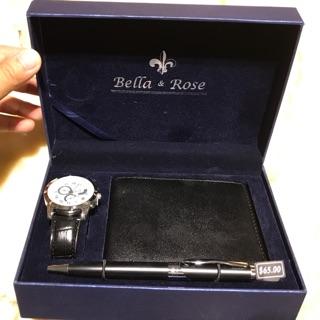 全新 Bella & rose 手錶皮夾禮盒
