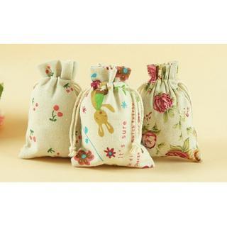 ❤K&D❤韓國熱賣現貨 ❤ 手工製作可愛韓國風格飾品袋 布布袋 衛生棉袋 化妝包袋 小碎花 可愛風格 麻布