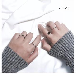 W6 ✨四件套組關節戒日韓簡約戒指 潮人飾品開口尾戒指環對戒復古配飾