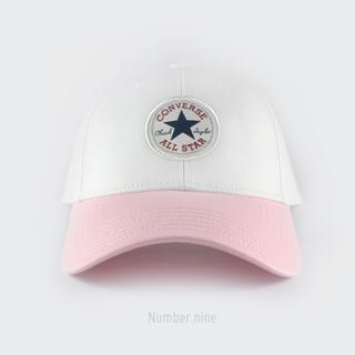 CONVERSE ALL STAR LOGO CAP 刺繡老帽 粉/白