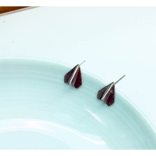 小小紙飛機耳環