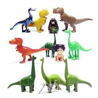 12款 迪士尼正版散貨 恐龍當家 霸王龍 長頸龍 甲龍 主角公仔玩具