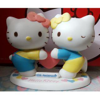 Hello kitty 40週年 公仔 (kitty&Mimmy)