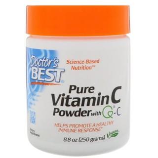 【預購】Doctor's Best 100%維他命C粉劑 含 Quali-C 250 克 Vitamin C